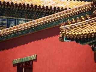 美丽的北京故宫红墙图片壁纸