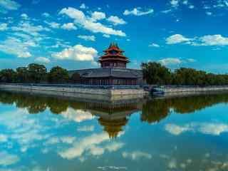唯美的北京故宫角楼