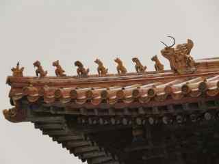 北京故宫房檐桌面