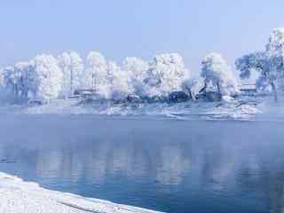 吉林雾凇风景小清新桌面壁纸