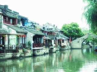 烟雨江南小清新周庄风景图片