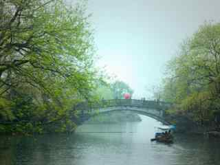 春日烟雨江南风景图片壁纸