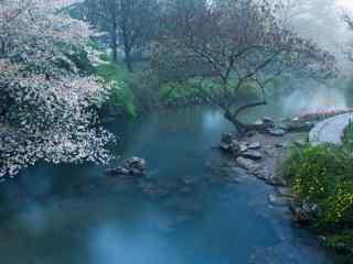 美丽的烟雨江南风景图片