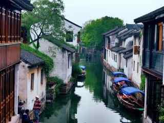 烟雨江南之周庄风景图片