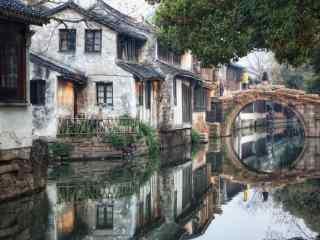 烟雨江南周庄风景图片