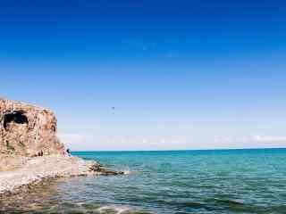 美丽的青海湖蓝天图片壁纸