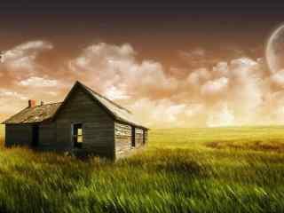 唯美梦幻的小木屋风景桌面壁纸