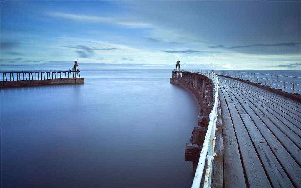 码头风景唯美壁纸