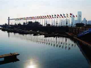 奥帆基地码头风景壁纸