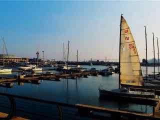 奥帆基地码头唯美图片壁纸