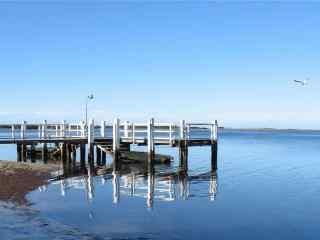 码头唯美风景桌面壁纸