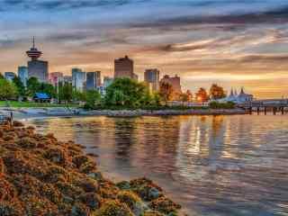 加拿大溫哥華(hua)碼頭桌面壁紙(zhi)