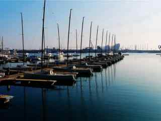 奥帆基地码头风景桌面壁纸