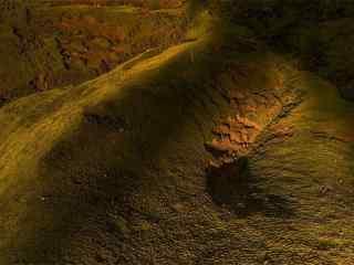 綠色護眼山坡風景(jing)圖片壁紙