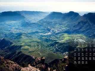 2017年8月日历美丽绿色风景护眼壁纸
