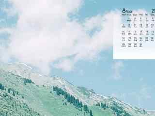 2017年8月日历清新风景护眼桌面壁纸