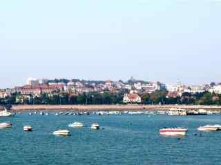 避暑圣地青岛美丽的海边风景