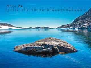 2017年8月日历山河唯美风景桌面壁纸