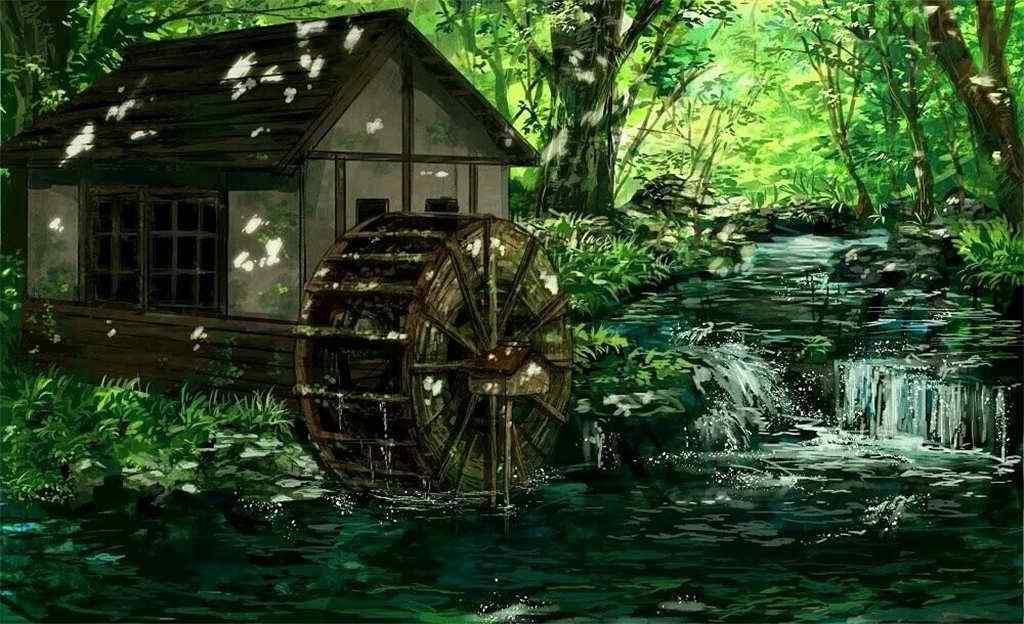 夏日清凉森林深处风景壁纸