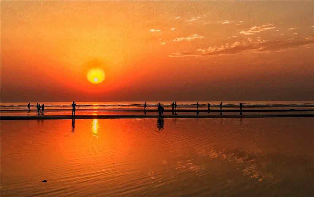 北戴河海边黄昏风景壁纸