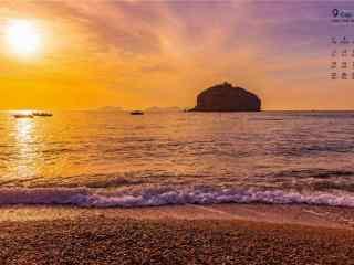 2017年9月日历棒棰岛海边风景壁纸