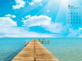 2017年9月日历清新美丽的风景壁纸