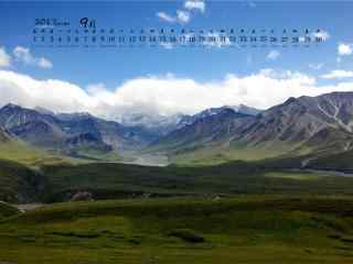 2017年9月日历大山的风景壁纸