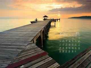 2017年9月日历美丽的自然风景壁纸