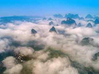 唯美的山中云雾风