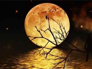 唯美的中秋满月大图壁纸
