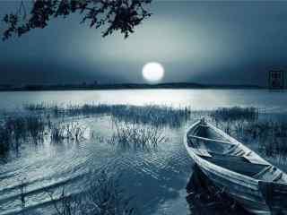 中秋节之美丽的满月风景壁纸