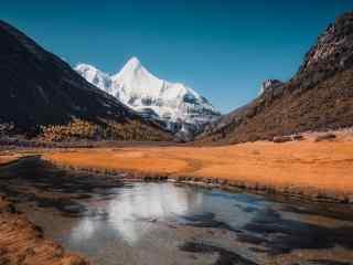 优美风景图片大自然雪山美景高清图片桌