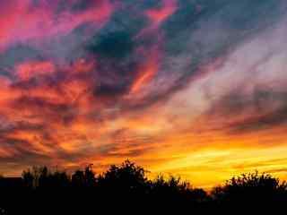 优美风景图片唯美晚霞自然风光高清图片