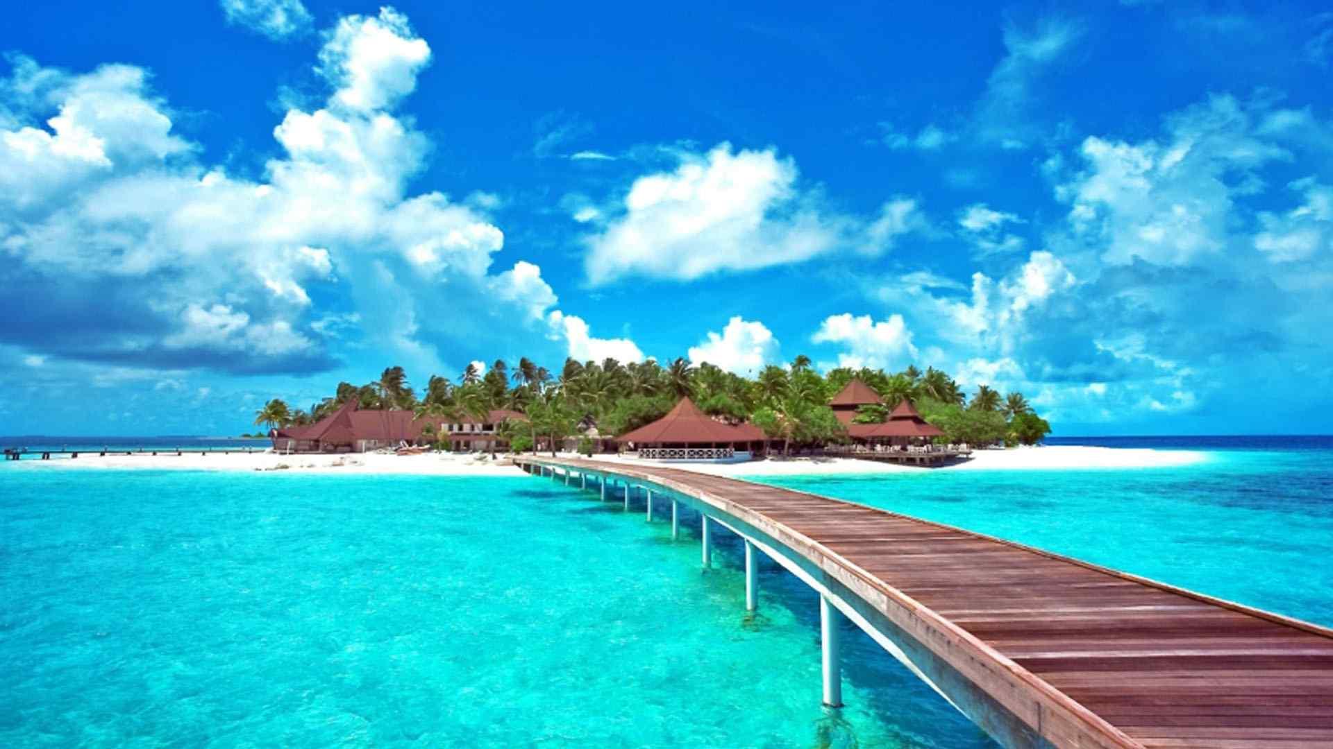 湛蓝海洋唯美自然风光壁纸