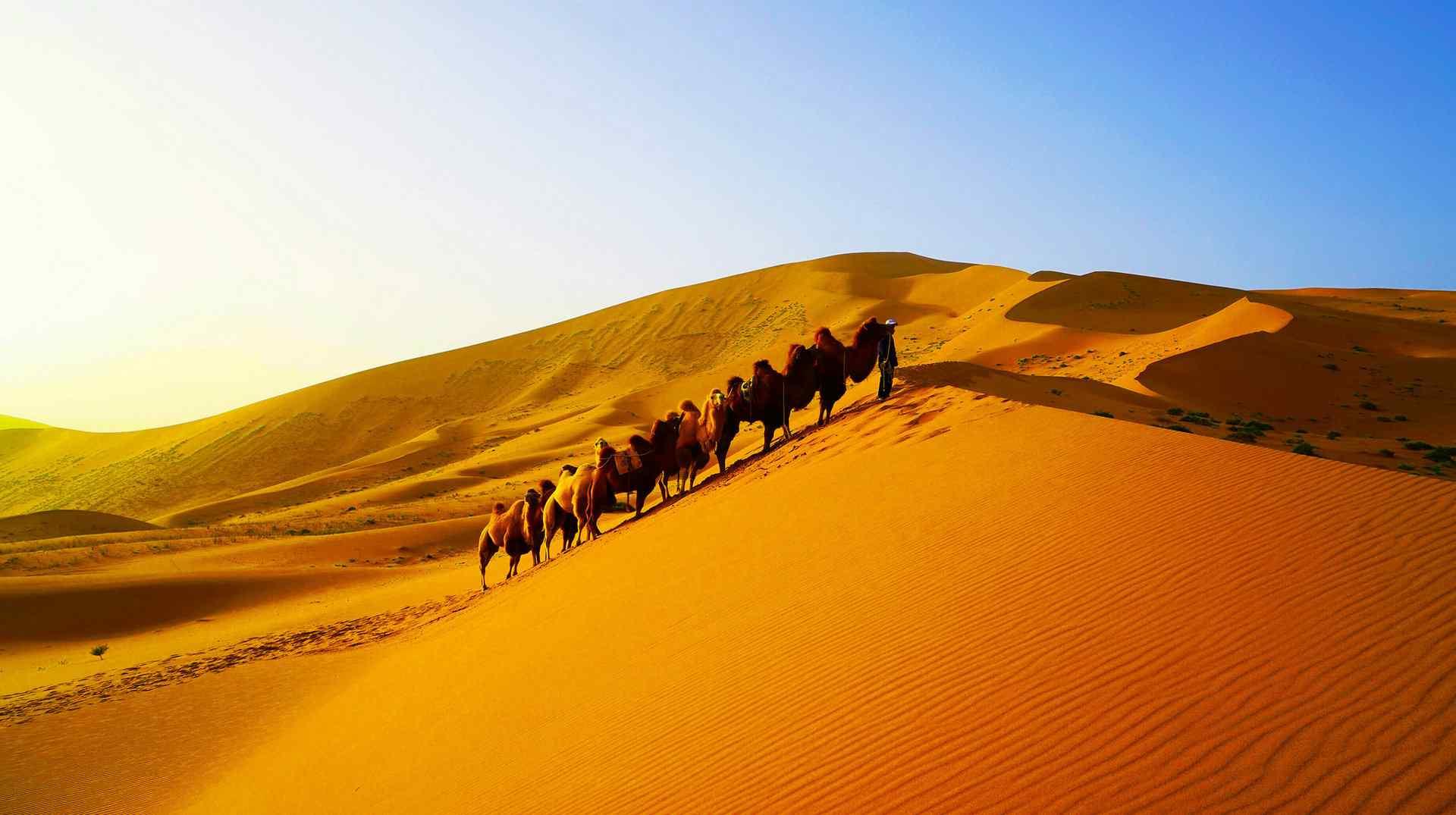 巴丹吉林沙漠风景图片桌面壁纸