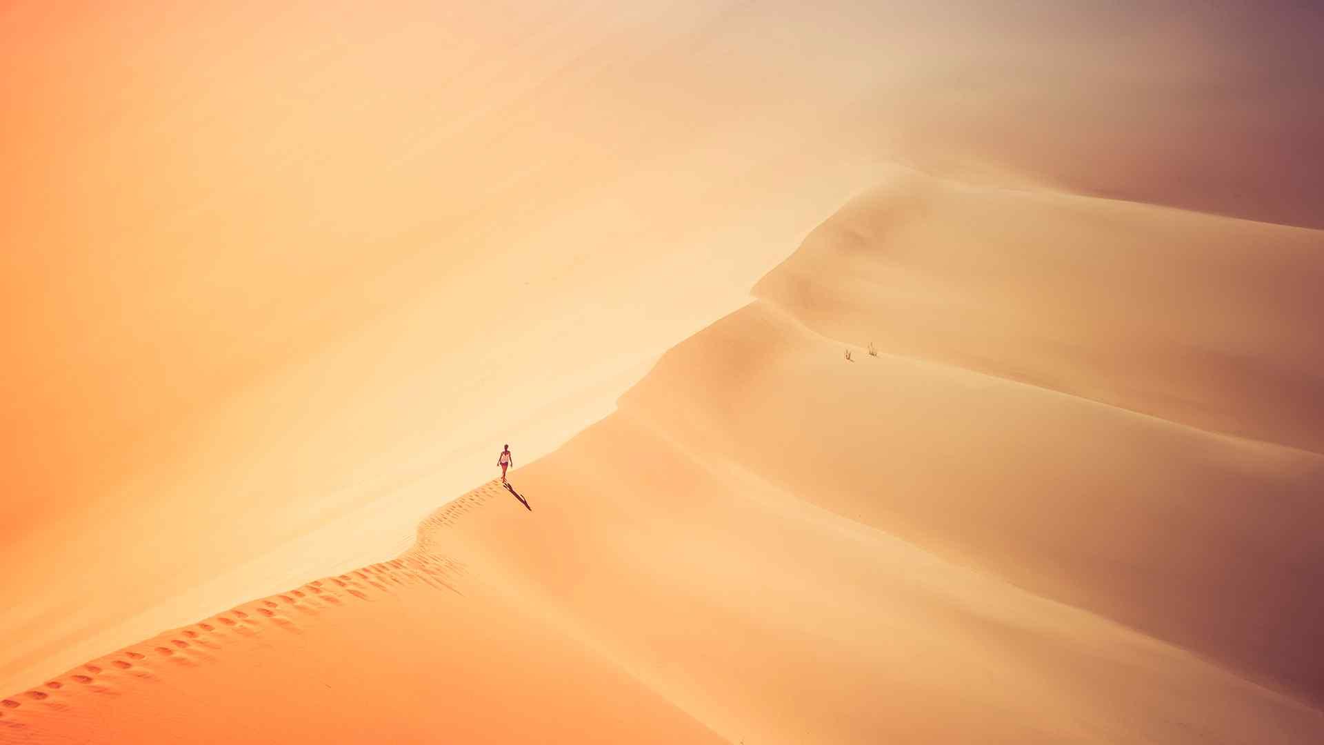唯美沙漠风景摄影高清桌面壁纸