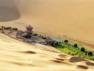 苍凉敦煌唯美沙漠风光高清桌面壁纸