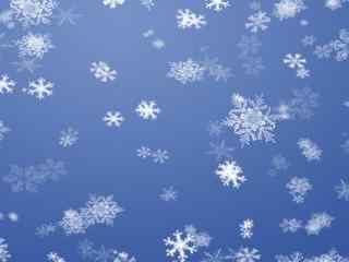 蓝白雪花背景高清桌面壁纸