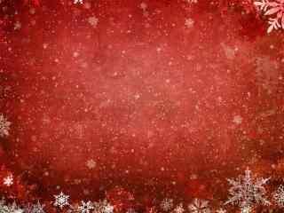 红白背景雪花高清桌面壁纸