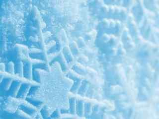 晶莹剔透美丽雪花高清桌面壁纸