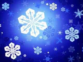 唯美大气雪花背景桌面壁纸