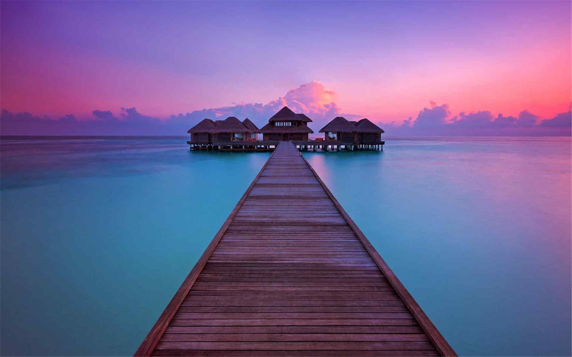 马尔代夫热带海洋唯美风景高清壁纸