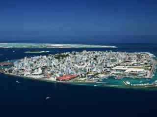 马尔代夫神奇的岛上都市高清壁纸图片
