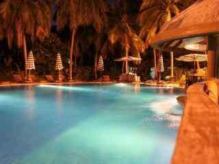 马尔代夫泳池酒吧高清壁纸