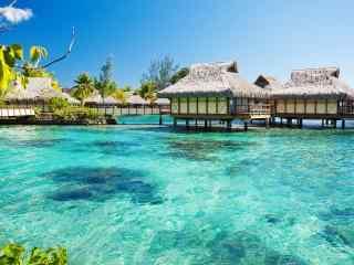 马尔代夫唯美度假村风景摄影高清壁纸