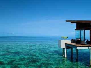 旅游圣地马尔代夫高级度假小屋高清壁纸