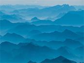 唯美山间雾景自然风景壁纸图片