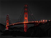 夜晚的金门大桥自然风景高清壁纸