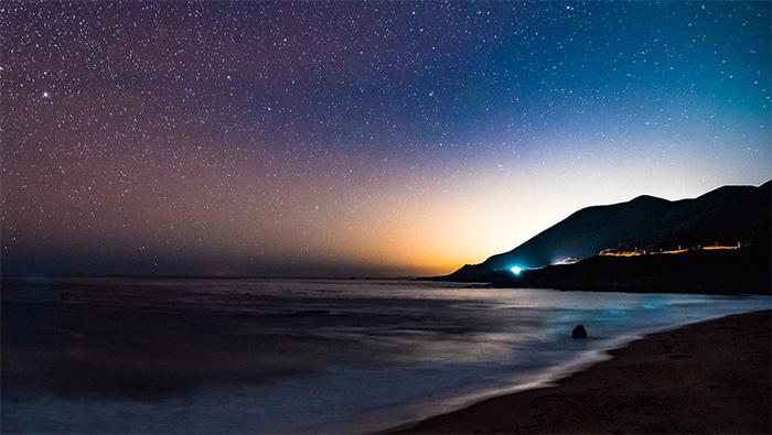 唯美夜晚星空自然风景高清壁纸