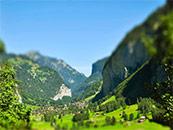 唯美青山缩景自然风景高清壁纸